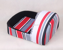 cozy warm soft streak printing plush pet pillow/dog sleep bed/kennel house
