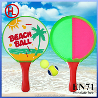 2015 hot sale beach games beach paddle / velcro throw and catch ball set