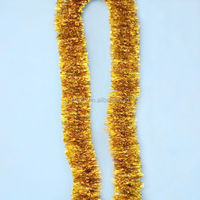 PET tinsel garland for wedding christmas foil hanging decoration christmas decoration for supermarket