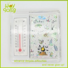 Manufacture cheap plastic promotional fridge magnet thermometer