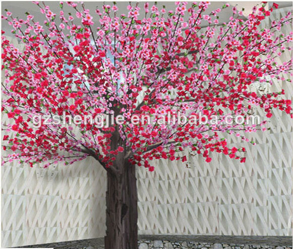 fabricant ornementales d 39 int rieur artificielle double couleurs cerise fleur arbre. Black Bedroom Furniture Sets. Home Design Ideas