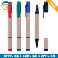 Promotional Multi Function Highlighter Paper Ball Pen