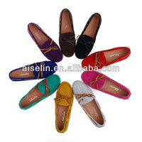 name brand shoes cheap stock shoe nature leather flat shoes