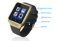 Android 4.4 3g Smart Watch Phone With Sim Card Slot Wifi 5.0mp camera