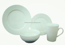 white porcelain embossed Dinner set