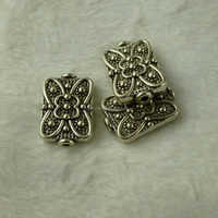 rectangle shaped Beads engraved flower 28*12mm Hole 1.8mm