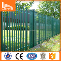 Factory sale powder coated decorative metal palisade fence panels