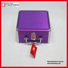Cosmetic Makeup Aluminum Train Jewelry Lockable Box Organizer Case Beauty Bag