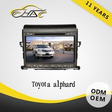 mini order accept excellent quality fit car radio for toyota alphard dvd player bluetooth/map/camera/ect