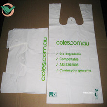 Customized Factory T-shirt oxo biodegradable plastic shopping bags for sale