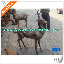 cast iron alibaba china supplier outdoor cast iron deer statue