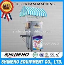 profissional s007 freestand ou bancada utilizado nomes para a máquina de sorvete soft