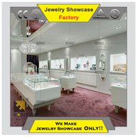 High end Contemporary wooden glass jewelry and watch counter display cabinet for shop decoration design