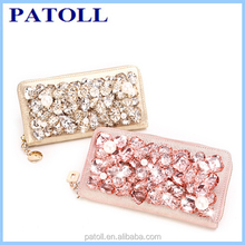Promotion custom women's apple shaped crystal beaded evening bag,swarovski evening bag