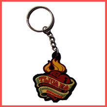 pvc rubber name keychain 100 print