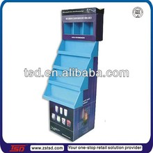 TSD-C207 Custom retail store cardboard movie displays/folding paper stand/corrugated floor stand for Halloween candles
