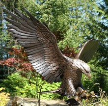 Outdoor newest copied large bronze eagle statue for decor
