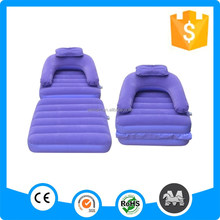 Foldable single air bed inflatable bed sofa