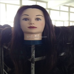 Wholesale Female Hairdresser training head mannequin doll head with hair