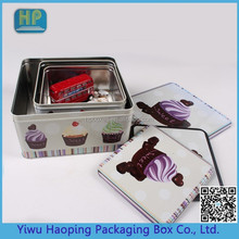 2015 Special Square Cake cookie candy Tin Box Sets
