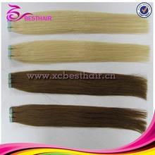 2014 venta caliente de la PU extensión del pelo cinta productos para el cabello