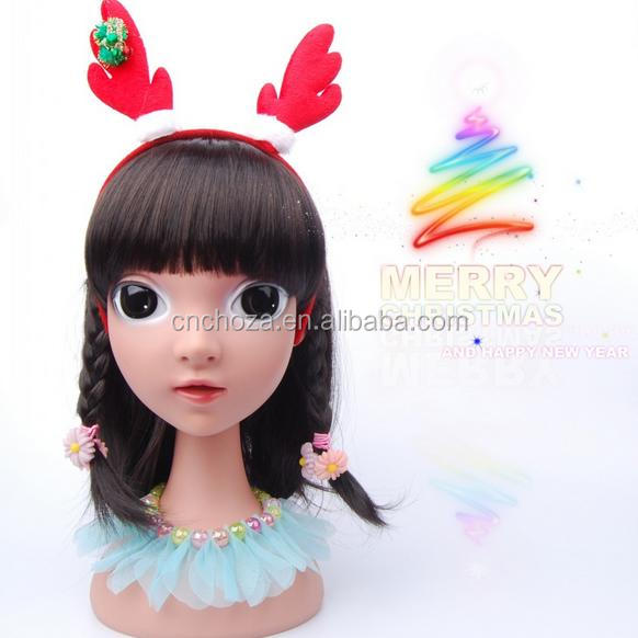 Z52482b christmas headband for christmas party christmas hat children