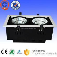 2*12w SAA approved AR111 LED Grille Lights ,Led grill downlight for the shop