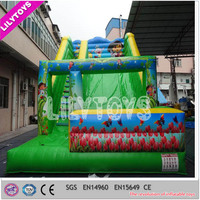 Good quality green slide inflatable,new inflatable slide with SGS certificate
