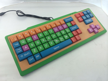 Cheap USB/PS2 wired wireless Children/kids keyboard with colorful big size keys