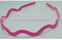 elastic hair band plastic hair bands with teeth for girls