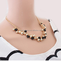 SN131 Fashion Luxury Multicolour Drop Beads Necklace & Pendant Style Banquet Decoration Necklace Hot Factory Price