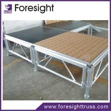 foresight aluminum stage deck modular stage design riser stage