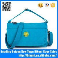 Colorful washing women purse bag nylon cell phone wallet shoulder bag