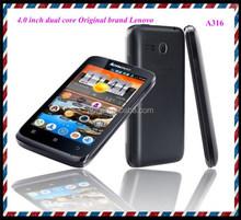 Cheap 4.0 inch Original brand LENOVO A316 android mobile phone