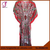 08206C03 Long Style Turkey Flower Women Beautiful Grils Kaftans