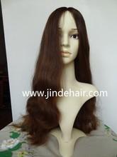 Factory Wholesale 100% virgin European Human Hair long Sexy Wavy Jewish Kosher Wigs