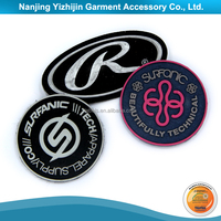 Car brand logo name rubber clothing label for clothing manufactures