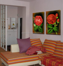 Beautiful oil painting flower picture used to hang in wall wholesale in 2015 canvas wall pictures of flowers