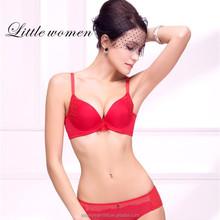 Red color Chinese manunifacture sex breathable panties girls wearing silk panties