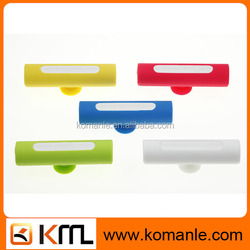 New Molding Silicone promotional item sucker 2600mah powerful mobile power bank mobile phone holder