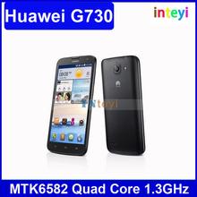 "Original Huawei Ascend G730 4GB RAM 5.5"" 3G Quad Core WCDMA & GSM Dual SIM Cell Phones Multi Language Cell Phone"