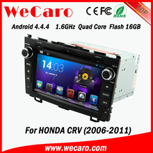 """Wecaro android 4.4.4 car stereo Dashboard Placement 8"""" for honda crv car dvd player OBD2 Playstore 2006 2011"""