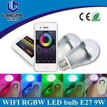 Android iOS Phone control 6w 9w led e27 baby night light, led phone bulbs