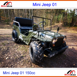 Mini Jeep Willy Zhenhua150cc or 250cc gasoline petrol 2015 EPA DOT EEC COC available for USA and Europe
