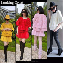New style natrual mink fur coat and skirt for young ladies with 2015 hot fashion