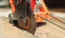 Double blade concrete cut off saw for cutting concrete