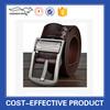 New fashion wholesale black custome men belt buckle leather