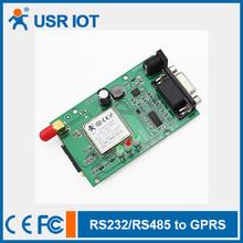 (USR-GPRS232-701-PCBA)RS232/485 to GPRS DTU,Serial GPRS Converter