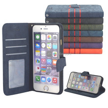New Design Leather Case ,Wallet Leather Case For Apple iphone 6 Plus