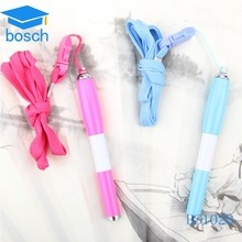 Hot selling Mini plastic Pen with String, Ball Pen with Lanyard